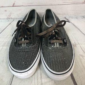 VANS silver sequin sneakers shoes 9.5